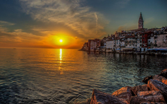 Sunset In Old Town Croatia Wallpapers Wallpapers