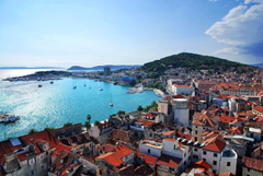 Wallpapers Croatia Houses Coast City of Split Cities Image