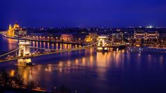 Danube River Hungarian Parliament Budapest Wallpapers