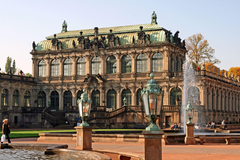 The Zwinger is a palace in Dresden eastern Germany Full HD
