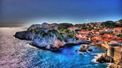 Adriatic Dubrovnik Croatia Ancient City Walls And Historical