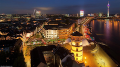 D sseldorf Colourful German City Beautiful Night View Germany Hd