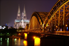 Monuments Cologne Cathedral Night Kln Bei Nacht Germany