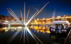 Genoa Harbour Italy widescreen wallpapers
