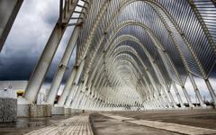 photography landscape architecture arch bridge modern path overcast