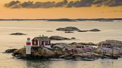 Sweden lighthouses islands Gothenburg wallpapers
