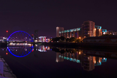 Wallpapers Scotland Glasgow Night Rivers Cities Houses