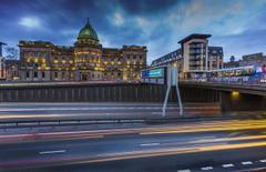 Wallpapers Scotland Glasgow Bridges Roads Cities Houses