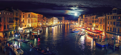 Italy Venice Grand Canal night reflection wallpapers