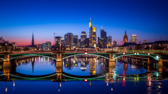 Wallpapers Frankfurt Nightscape Germany HD 4K World
