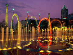 Amazing Fountain of Centennial Olympic Park in City Georgia United
