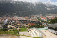Wallpapers Austria Innsbruck Mountains From above Cities