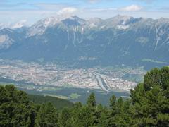Mountains Alps Innsbruck Austria Austrian Mountain Stock Photo for