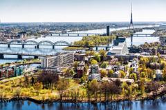 Wallpapers Spring Riga April city Latvia City nature