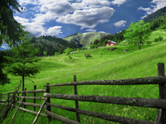 kosovo village house fence HD wallpapers