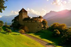 Wallpapers Vaduz Castle Vaduz Liechtenstein Alps grass castle
