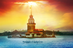 Lighthouse in the Bay of Istanbul wallpapers and image