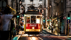 Tram in Lisbon Portugal wallpapers and image