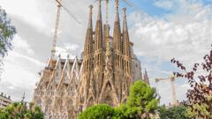 La Sagrada Familia Barcelona Spain Stock Video Footage