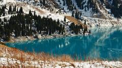 Lakes Located Almaty Kazakhstan Lake Salt City Desktop Wallpapers