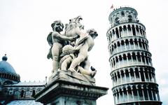 Pisa Tower Statue Wallpapers