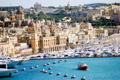 Sliema malta europa puerto edificios wallpapers