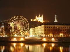 Ferris Wheel in Lyon France wallpapers and image