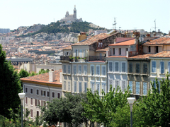House against the hill in Marseille France wallpapers and image