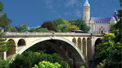 Bridges Beautiful Arched Bridge Luxembourg Church Arch Trees High