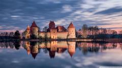 Trakai Island Castle Lithuania HD desktop wallpapers High