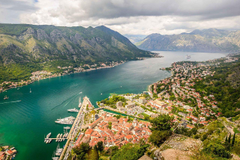 Photo Montenegro Kotor bay ridge Lovcen Nature Mountains Scenery