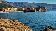 Montenegro Coast Water Budva HD desktop wallpapers High
