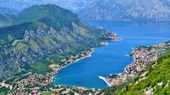 Kotor Tag wallpapers Bay Kotor Montenegro Ship Trees City