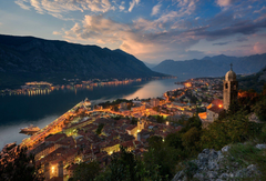 montenegro town which bay of kotor adriatic sea mountain house