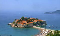 wallpapers Montenegro St Stefan Island Hotel Adriatica