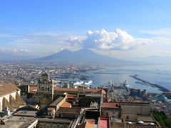 Clouds over the city of Naples Italy wallpapers and image