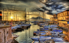 Sunrise In The Naples Docks HD desktop wallpapers High Definition