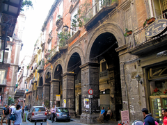 A walk through the ancient streets in Naples Italy wallpapers and