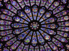 rose window at Notre Dame Cathedral Paris