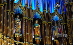 Notre Dame Basilica in Montreal HD Wallpapers