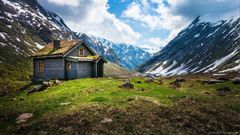 1920x1080 Lone House In Norway Wallpapers