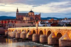 Wallpapers Spain Roman bridge Cordoba Bridges Rivers Cities Houses
