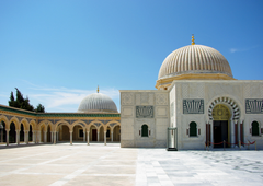 beige and white mosque image