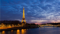eiffel tower paris landscapes night seine desktop wallpapers