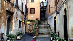 Houses Small Sreet Palermo Beauty Huses Street Italy Stairs