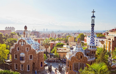 Wallpapers the city blur Spain Barcelona bokeh Barcelona Spain