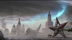 Moscow disasters red square post apocalyptic russian wallpapers