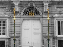 File Entrance Door Royal Palace of Madrid from Plaza de Oriente
