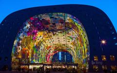 Market Hall in Rotterdam Netherlands