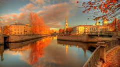 Autumn in St Petersburg Russia Full HD Wallpapers and Backgrounds